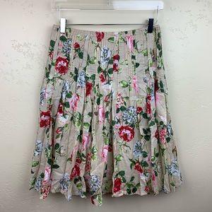 Cabi floral skirt size 4